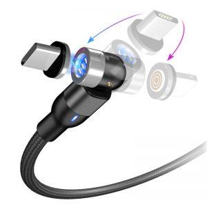 کابل شارژ مغناطیسی چرخشی